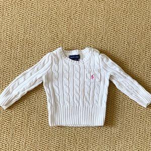 Ralph Lauren cableknit sweater